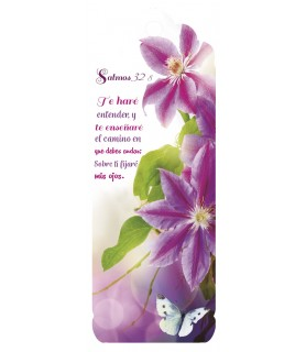 3D bookmark (Purple flowers)