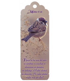 3D bookmark (Purple bird)