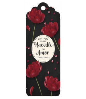 3D bookmark ( Red flowers)