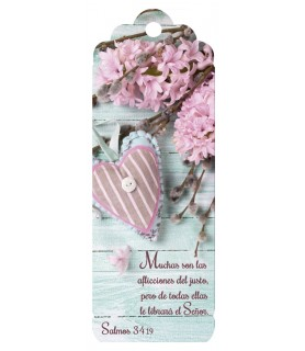 3D bookmark (Pink heart)
