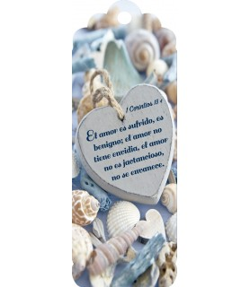 3D bookmark (Blue heart)